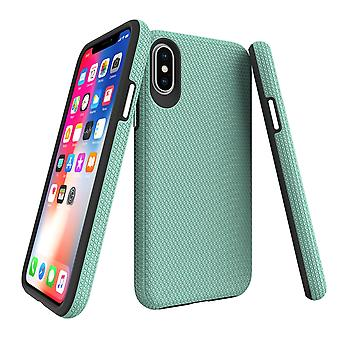 Pour iPhone XS et X Case, Armor Mint Slim Shockproof Protective Phone Cover