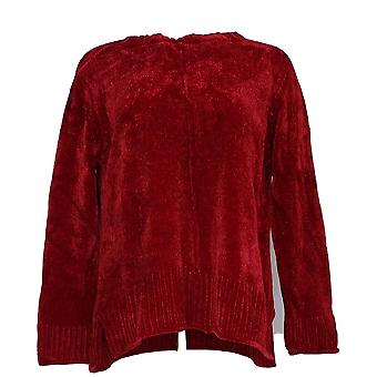 Style et Cie. Femmes-Apos;s Petite Sweater Chenille Pull-Over Rouge