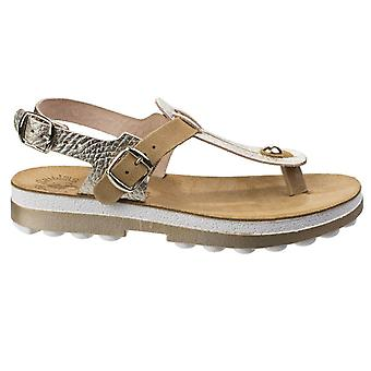Fantasy Marlena Womens/Ladies Leather Buckle Up Sandal