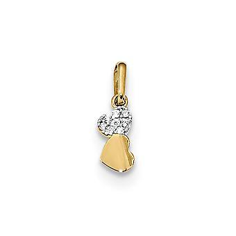 14k Madi K Kids CZ Cubic Zirconia simuleret Diamond To Love Heart Pendant halskæde smykker gaver til kvinder