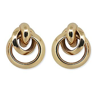 Gold Knot Earrings Studs