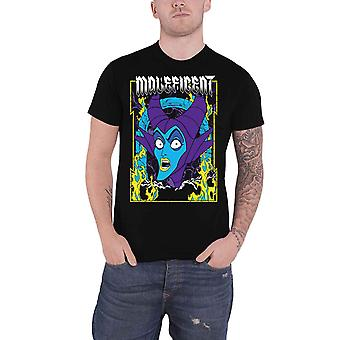 Maleficent T Shirt Skurk Queen Logo nya officiella Disney Mens Black