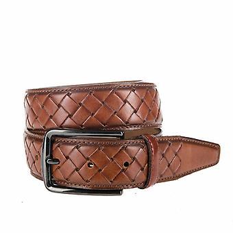 Beautiful Braid look, Cognac Men's Belt