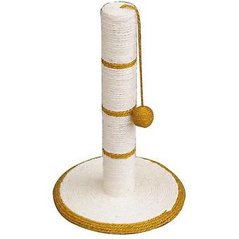 Arquivet Scraper White / Gold With Ball 30 * 30 * 46 Cm (Cats , Toys , Scratching Posts)