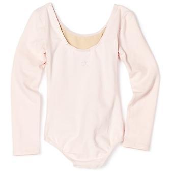 Danskin Little Girls' Long Sleeve Leotard,, Theatrical Pink, Size Small (4/6)