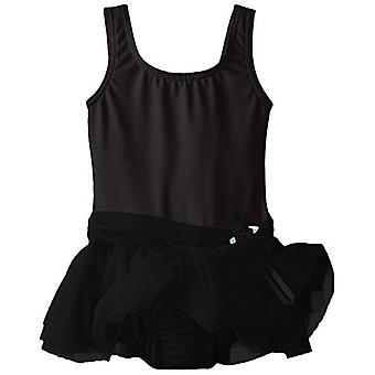 Clementine Little Girls' Girls Tank Tutu Dress, Black, 6X-7