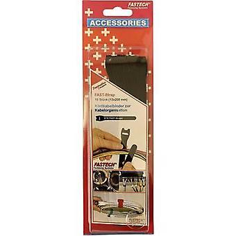 FASTECH® 802-330 Krok-och-slinga kabelslips för buntning Krok och slinga pad (L x W) 200 mm x 13 mm Svart 10 st( er)
