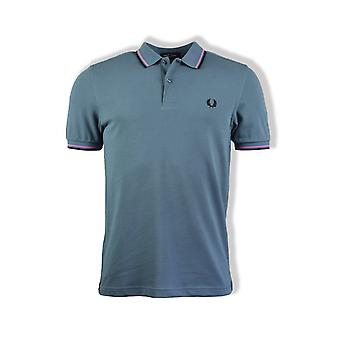 Fred Perry Twin Tippolo shirt (Blue Slate)