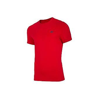 4F TSM003 NOSH4TSM003CZERWONY universal summer men t-shirt
