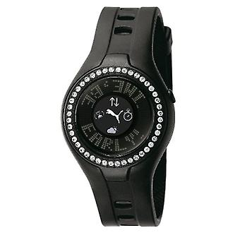 Cougar Time-PU910222002 wrist watch for women, black plastic strap