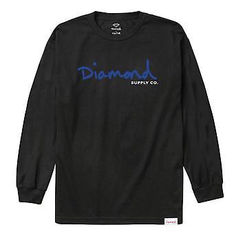 Diamond forsyning Co Tiger L/S t-skjorte-svart