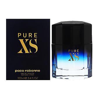 Pure xs par paco rabanne pour hommes 3.4 oz eau de toilette spray