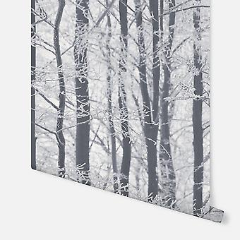 670200-Frosted hout zilver-Arthouse behang