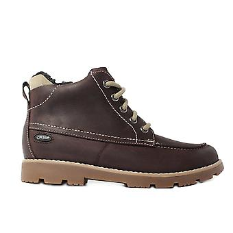 Clarks Comet Rock Infant Brown Leather Boys Botines con encaje/Zip Up Botines