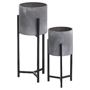 Hill Interieurs Keramische Table-Top Plantenbakken (Set van 2)