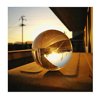 8Cm Clear Glass Crystal Ball Sphere Photography Props Lens
