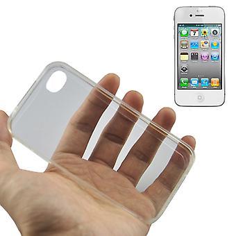 أبل أي فون 4/4s شفافة حالة غطاء سيليكون