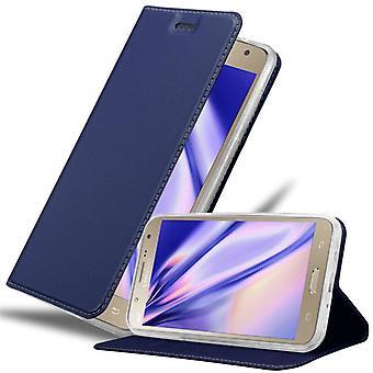 Cadorabo Hülle für Samsung Galaxy J7 2015 hülle case cover - Handyhülle mit Magnetverschluss, Standfunktion und Kartenfach – Case Cover Schutzhülle Etui Tasche Book Klapp Style