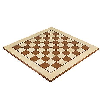 15.75 Inch Maple and Mahogany Inlaid Chess board