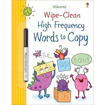 WipeClean HighFrequency Words to Copy by Hannah Watson