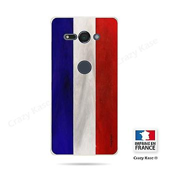Hull For Sony Xperia Xz2 Compact Souple French Vintage Flag