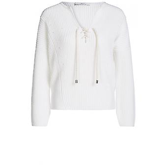 Oui Cream Chunky Strik Sweater