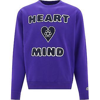 Billionaire B20249purple Men's Purple Cotton Sweatshirt