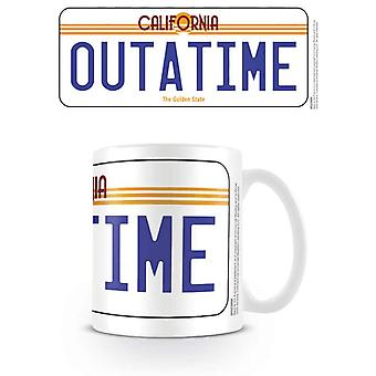 Back To The Future License Plate Mug