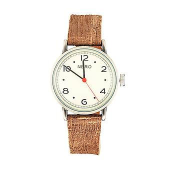 Nero 103 Veneto Unisex Brown Italian Leather Watch - Brown