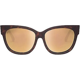 Electric California Danger Cat Sunglasses - Matte Tort Shell/Champagne Chrome