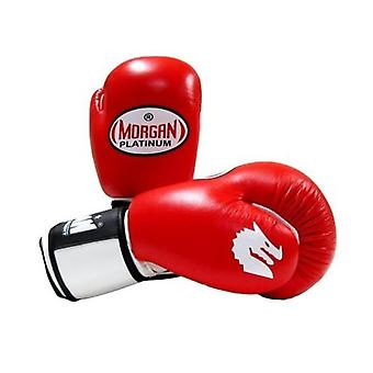 Morgan V2 Platinum Leather Sparring Gloves Red