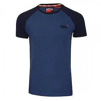 Superdry OL Classic SS Baseball T-Shirt Blue Marl BIF