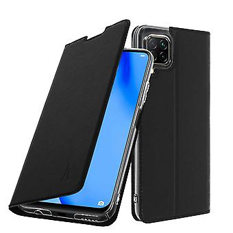 Cover Huawei P40 Lite Folio with a card holder Flap video support Akashi Black