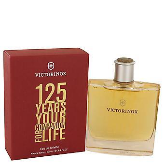 Victorinox 125 anos Eau De Toilette Spray (edição limitada) pela Victorinox 3,4 oz Eau De Toilette Spray