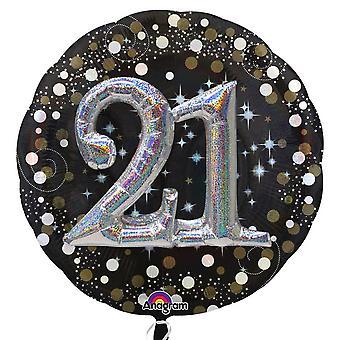 Anagramm Supershape Sekt 21. Geburtstag Ballon