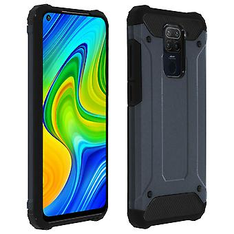 Protective Cover Xiaomi Redmi Note 9 Relief Bi-Material Shockproof night blue