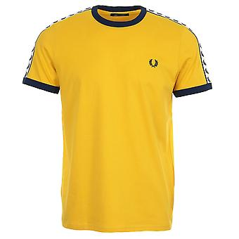 T-shirt Fred Perry Taped Ringer Tshirt Jaune