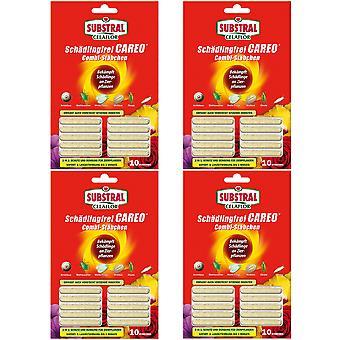 Sparset: 4 x SUBSTRAL® Celaflor® Pest-free Careo® Combi sticks, 10 pieces