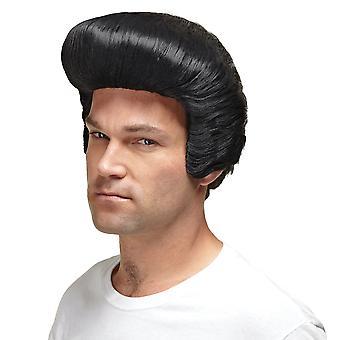 Dollar Daddy Pimp Pompadour Elvis Grease Gangster 50s 70s Mens Costume Wig