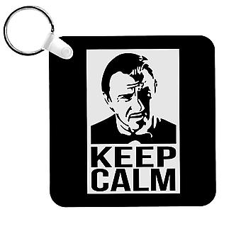 Keep Calm Call Mr Wolf Pulp Fiction Keyring