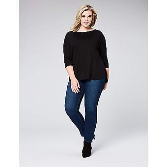 Brand - Daily Ritual Women's Plus Size Pima Cotton en Modal 3/4-Sleev...