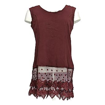 Kathleen Kirkwood Women's Top Layering Tank w/ Lace Extender Red A343309