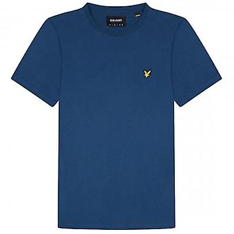 Lyle & Scott Plain Crew Neck T-Shirt Indigo Blue TS400V