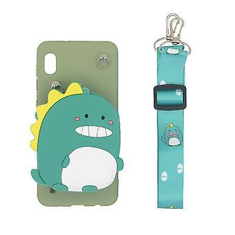 Samsung Galaxy A10 skal/plånboksfodral Dinosaurie/Grön