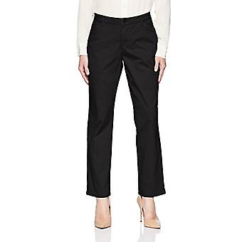 LEE Women's Relaxed Fit All Day Straight Leg Pant,jet black,4 Short Petite