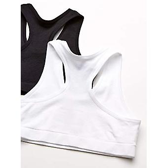 Essentials Girl's 2-Pack Active Sports Bra, Vit / Svart, M (8)