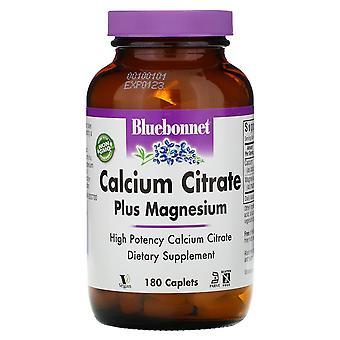 Bluebonnet Nutrition, Calcium Citrate Plus Magnésium, 180 Caplets