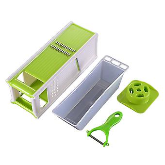 Kitchen Five-in-one Grater with Box Green