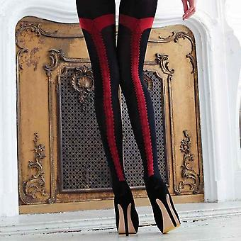 Couture Womens/Ladies Vixen Charlie Opaque Tights With Seam (1 Pair)