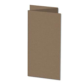 Fleck Manilla. 148mm x 296mm. Large Square. 280gsm Folded Card Blank.
